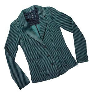 Hurley Teal and Black Striped Blazer size Small